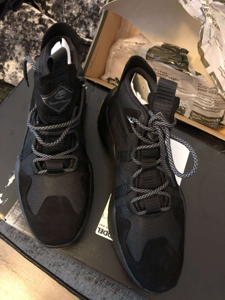 TIMBERLAND SIZE 9 MADBURY HIGH-TOP SNEAKER FOR MEN IN BLACK NEW