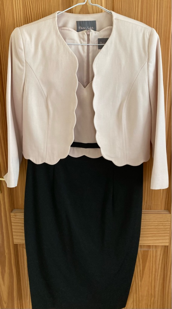Two piece suit (dress & jacket); Phase Eight brand.