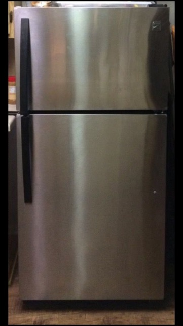 Stainless Steel Kenmore Refrigerator with Ice Maker