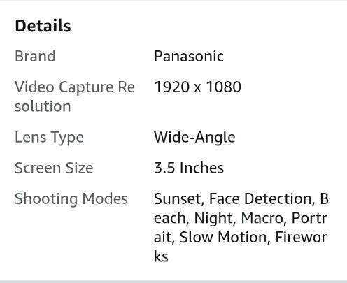 Panasonic HC-X900M (32gb) AVC 3D Camcorder