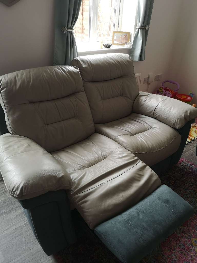 2 x 2 seater guide recliner DFS sofas