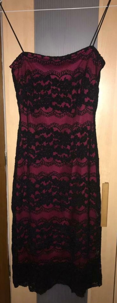 New Look Red Lace Evening Dress (UK 8)
