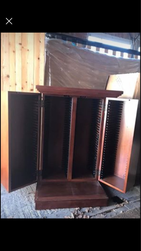 Mahogony DVD storage unit