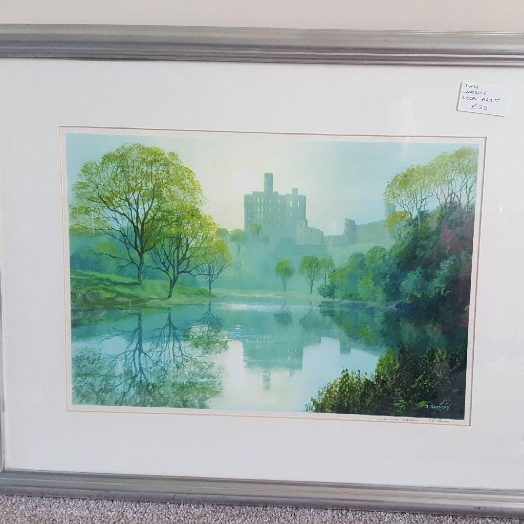 Warkworth castle by Ivan Lindsay local artist