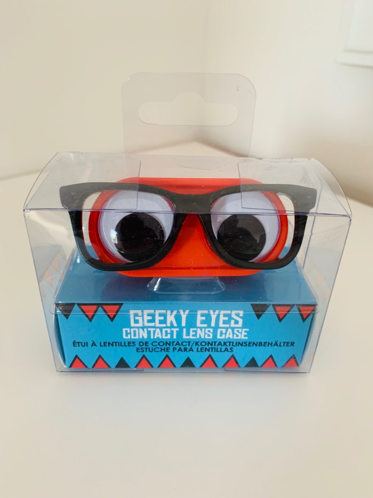 Geek googley eyes contact lens case