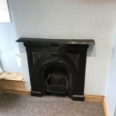 Victorian iron ornamental fireplace