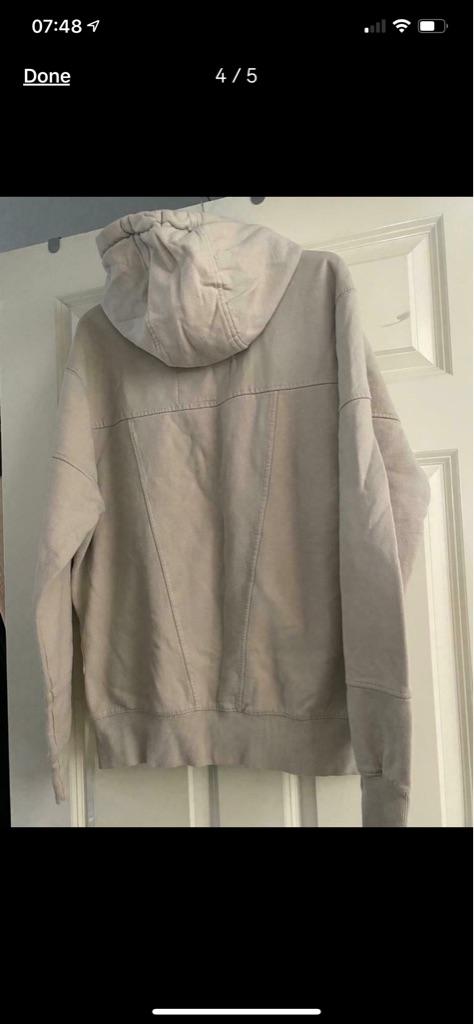 Men's brand new cream Crosshatch hoodie Large