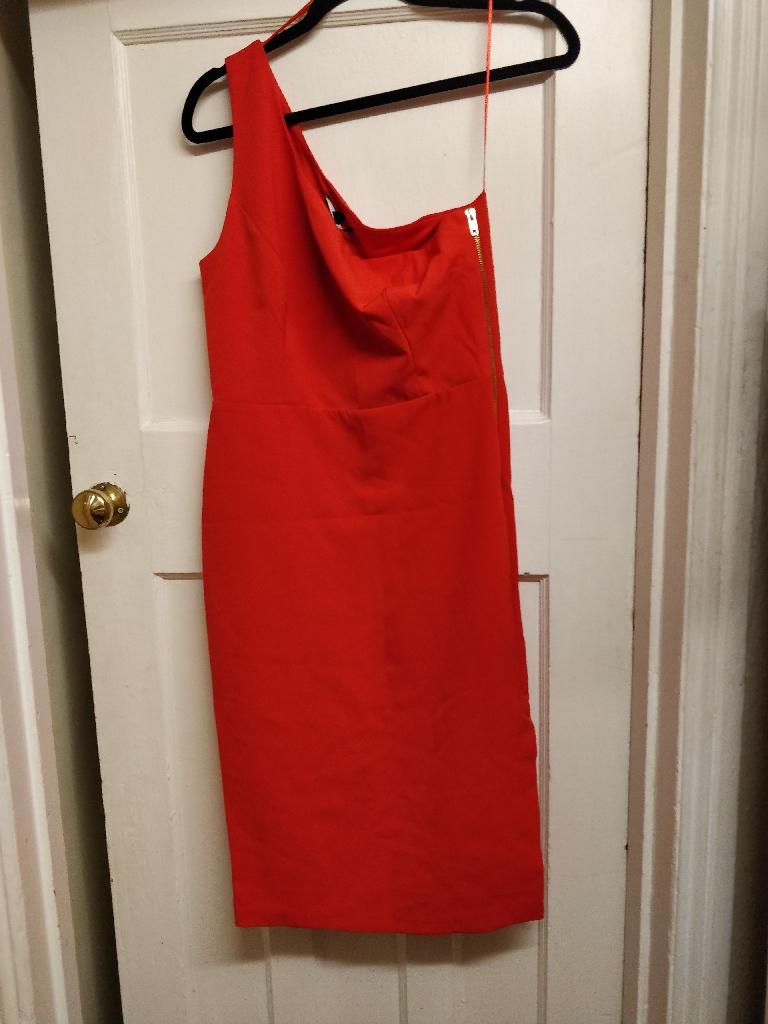 Red one shoulder dress BNWT