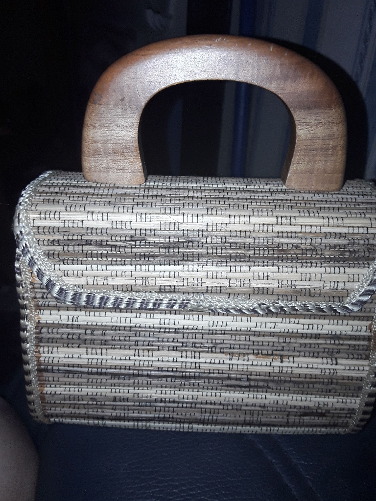 Handmade bamboo bag Condition- new Colour- Tan