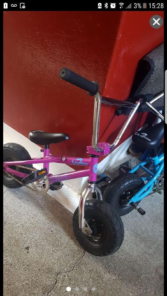 Mini venom bmx stunt bikes