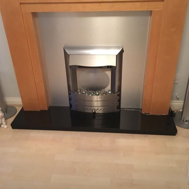MDF FIRE SURROUND -back -and Marble hearth