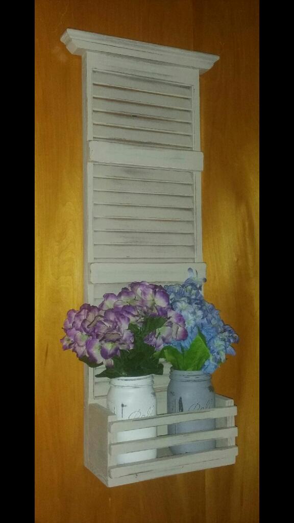 Refurbished shutter wall decor!!
