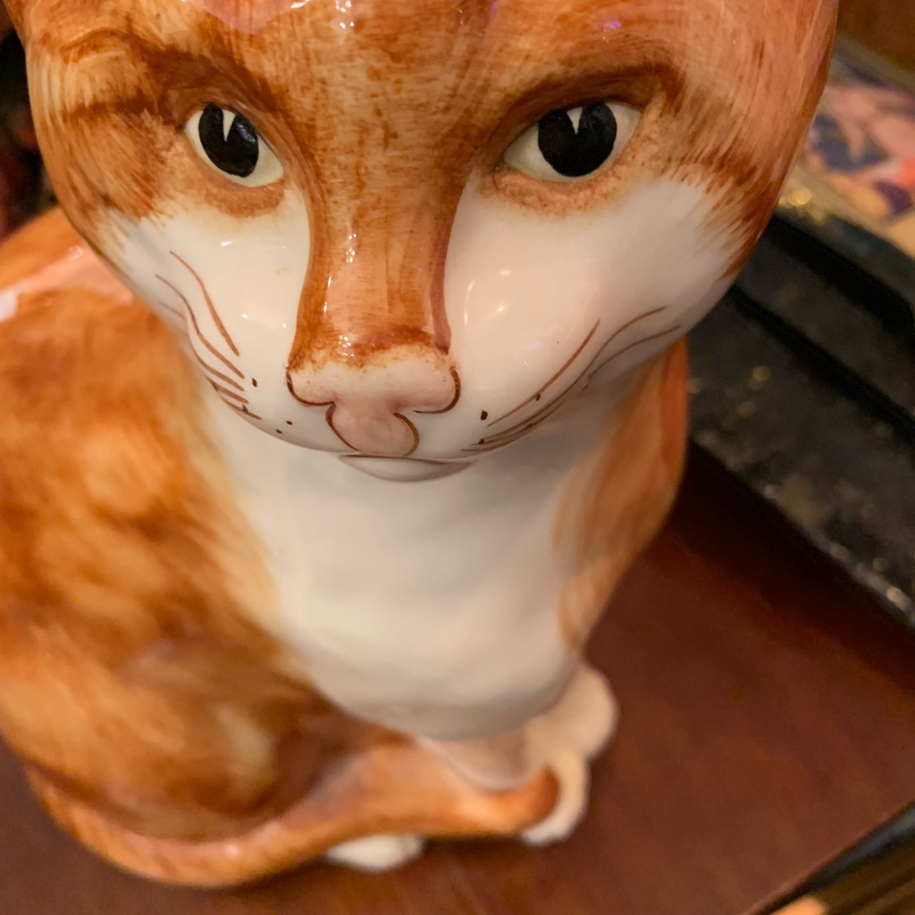 Beautiful ceramic large cat