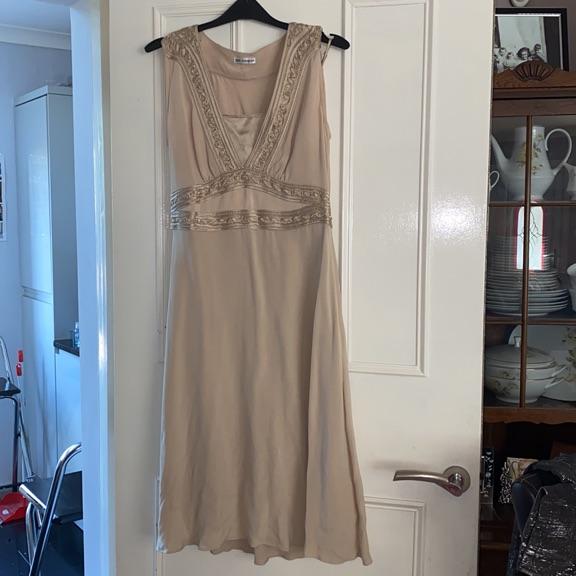 Lovely cream silk dress M&S