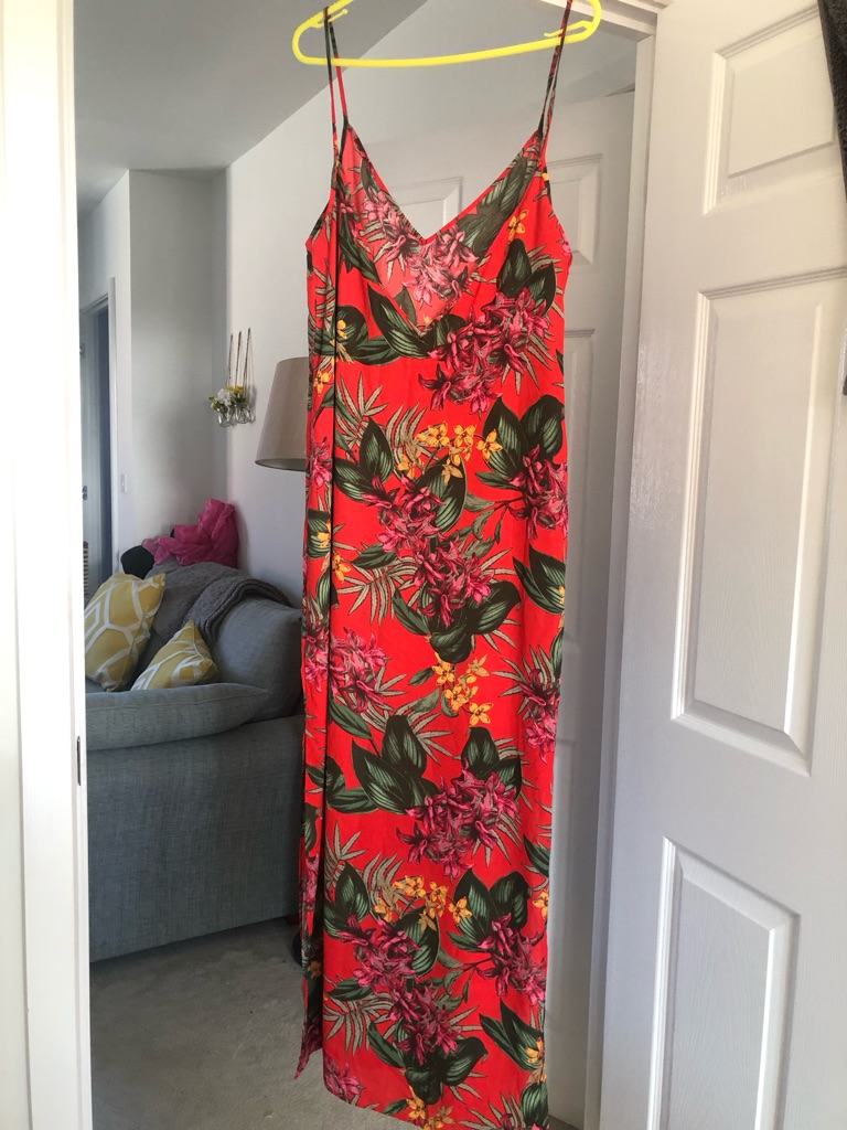 Missguided tropical maxi dress size 14