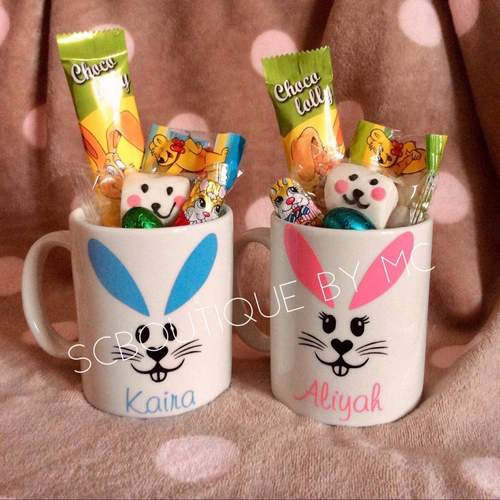 Personalised Easter filled mugs