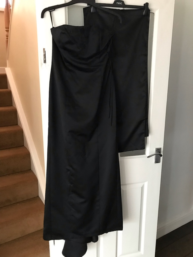 Black ball gown/prom dress. Size 12
