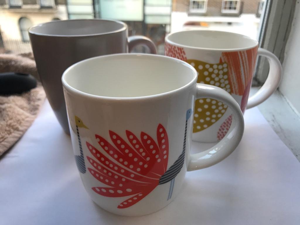 3 Glass Mugs