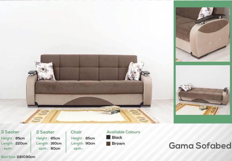 Black or brown sofa bed
