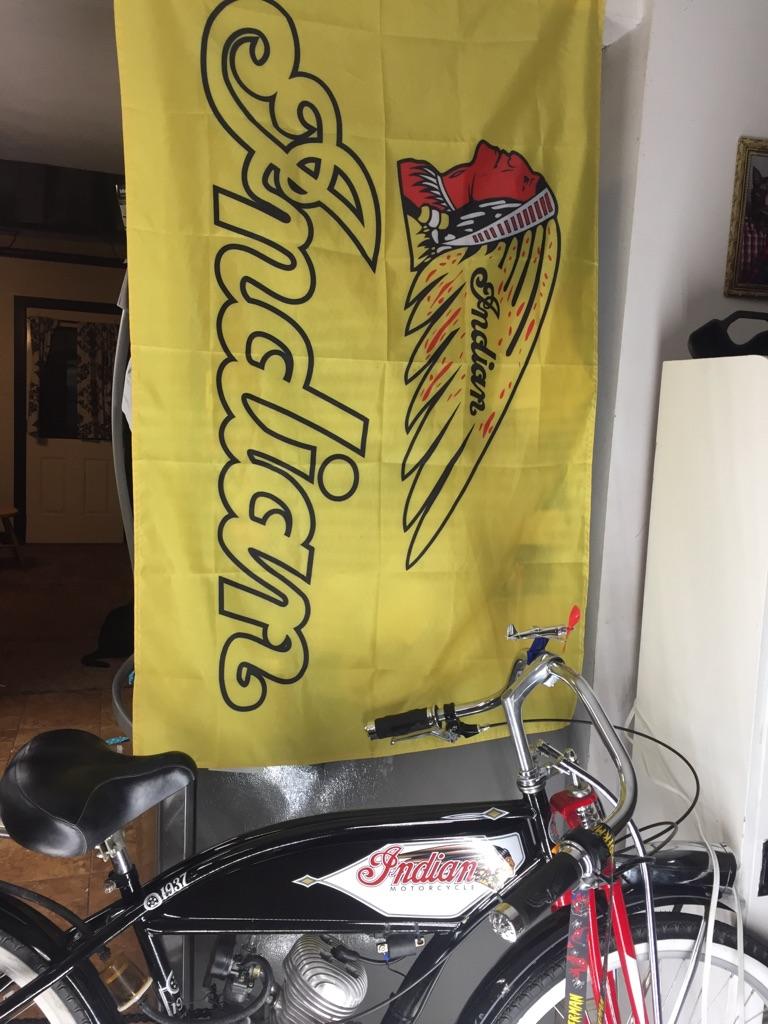 Indian motorcycle dealership display banner