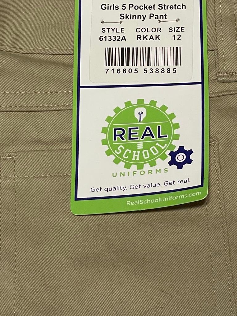 Real School Girls Uniform Pants Size 12
