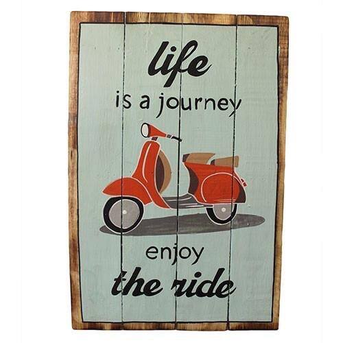 Rough Wooden Sign 'Life's A Journey