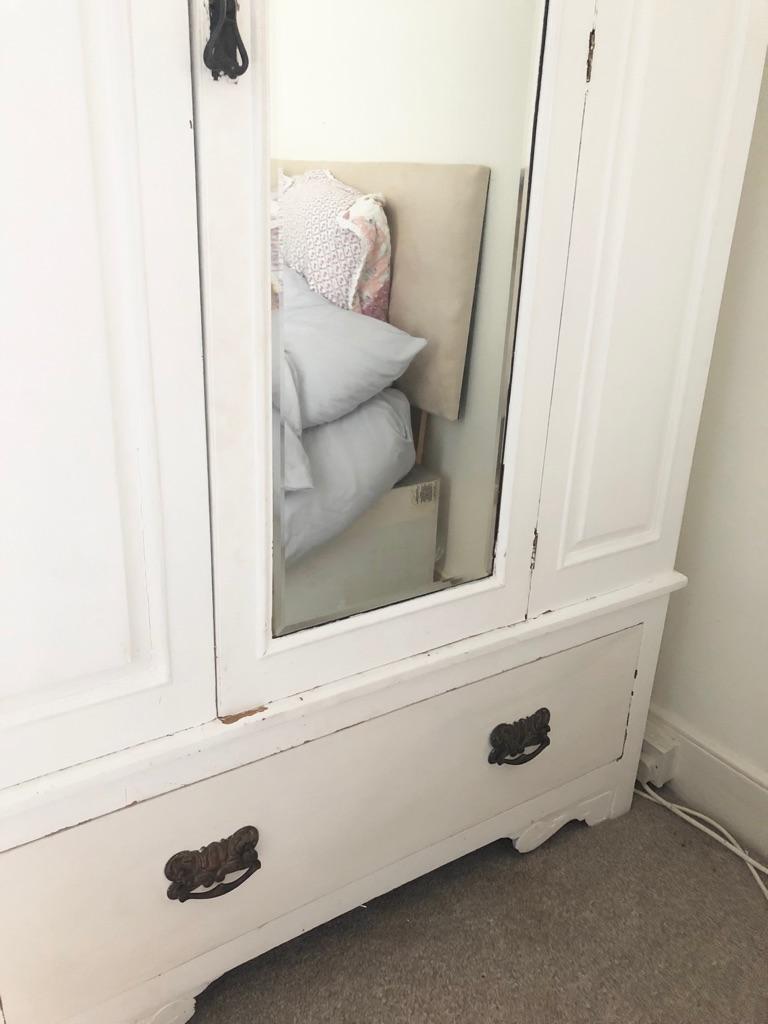 White vintage style wardrobe