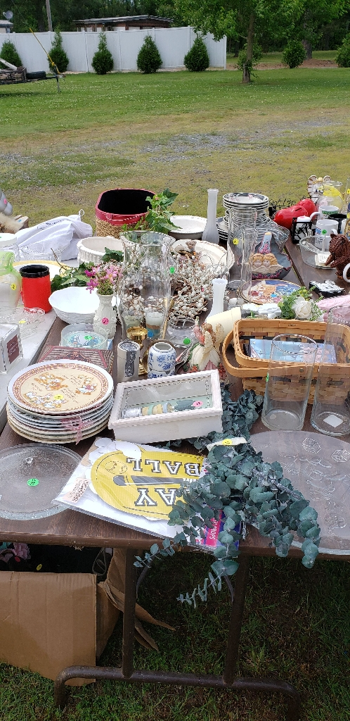 Yard sale leftovers