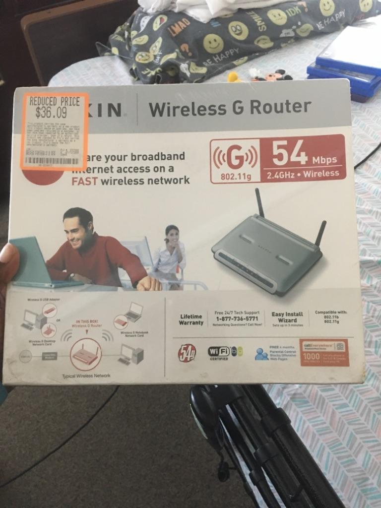 Belkin Wireless G Router F5D7230-4 400FT t belkin wireless g router f5d7230-4 400 ft range