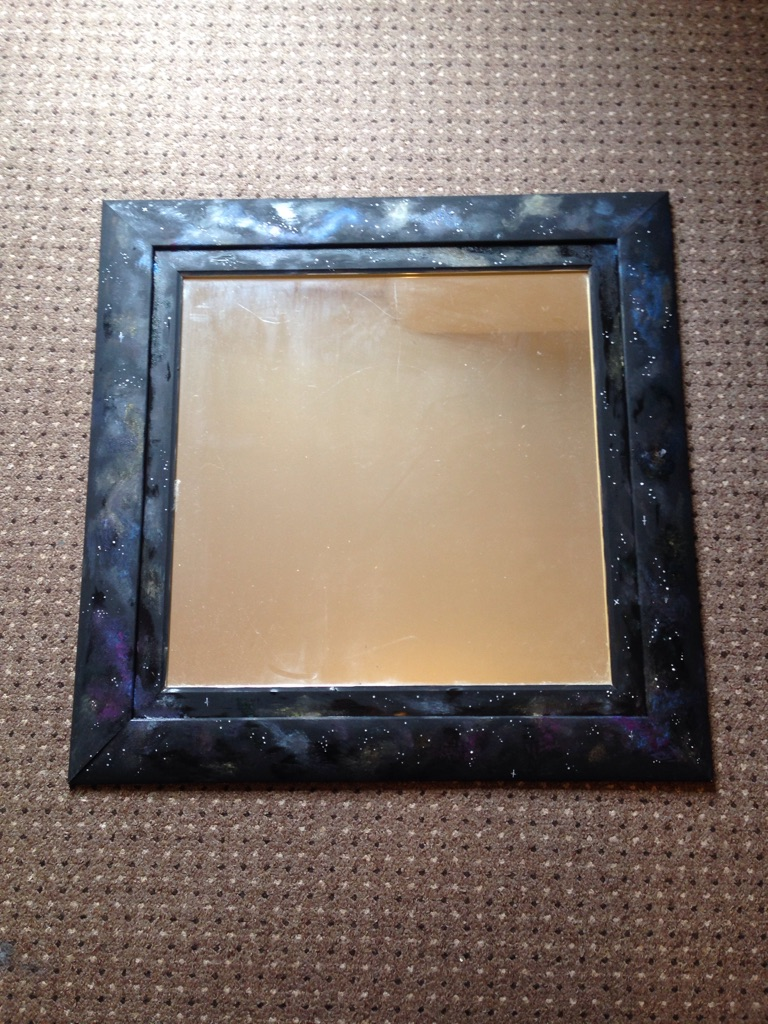 Large galaxy print mirror.