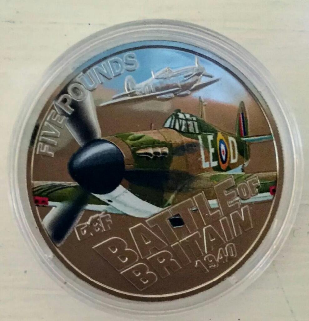 Rare Battle of Britain Five Pound Coin 1940