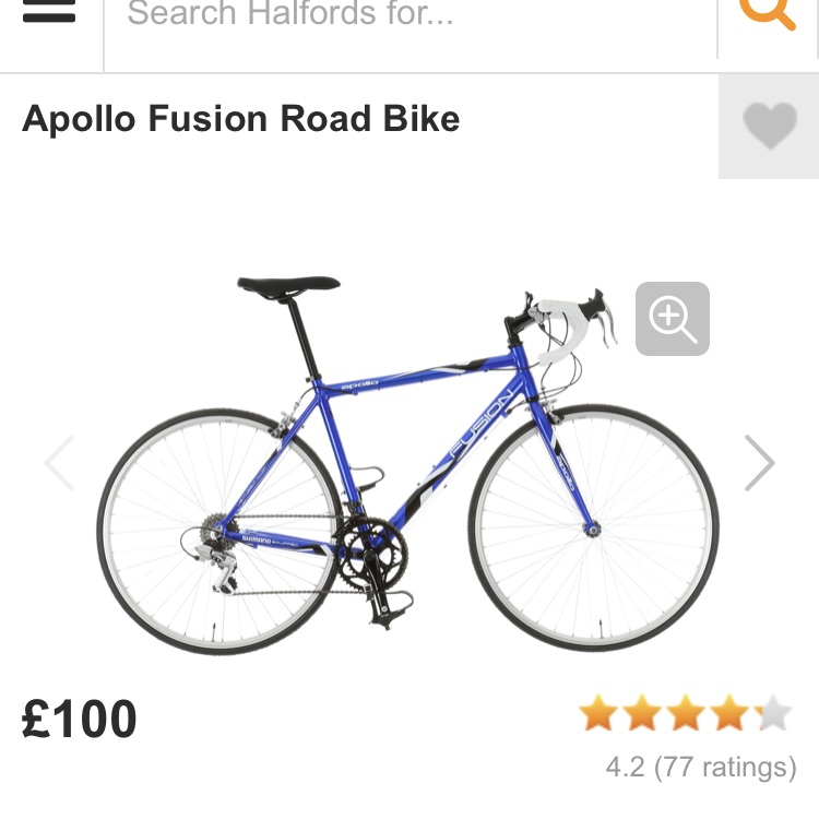 Apollo fusion road bike