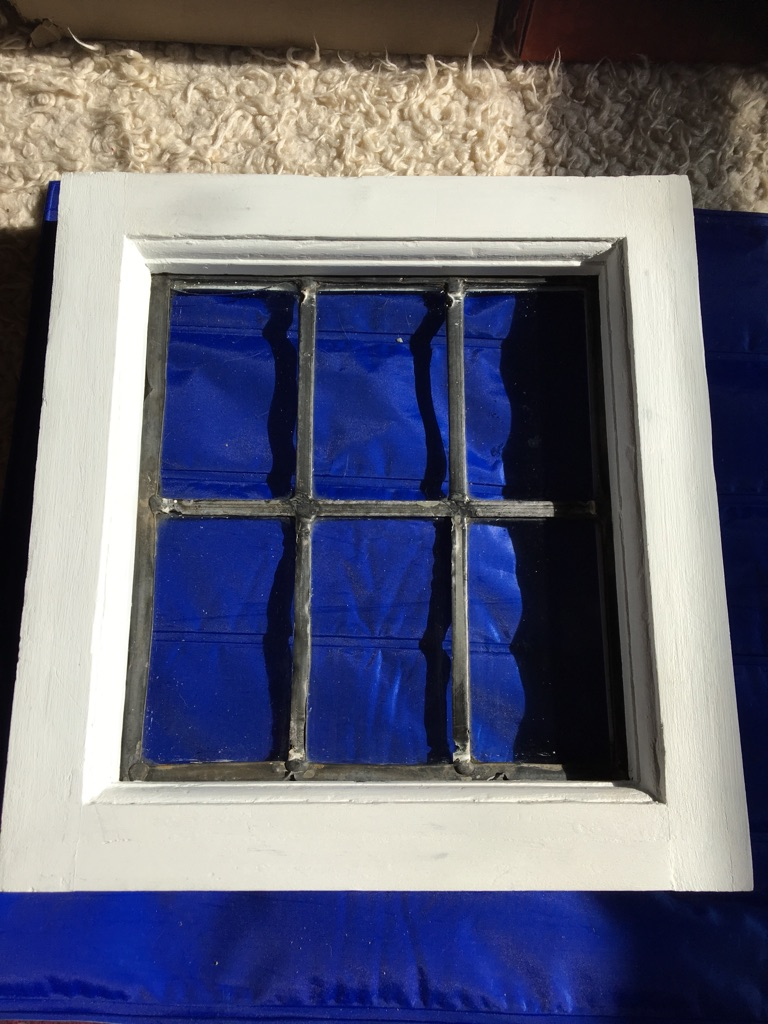 Reclaimed antique leaded window excluding frame