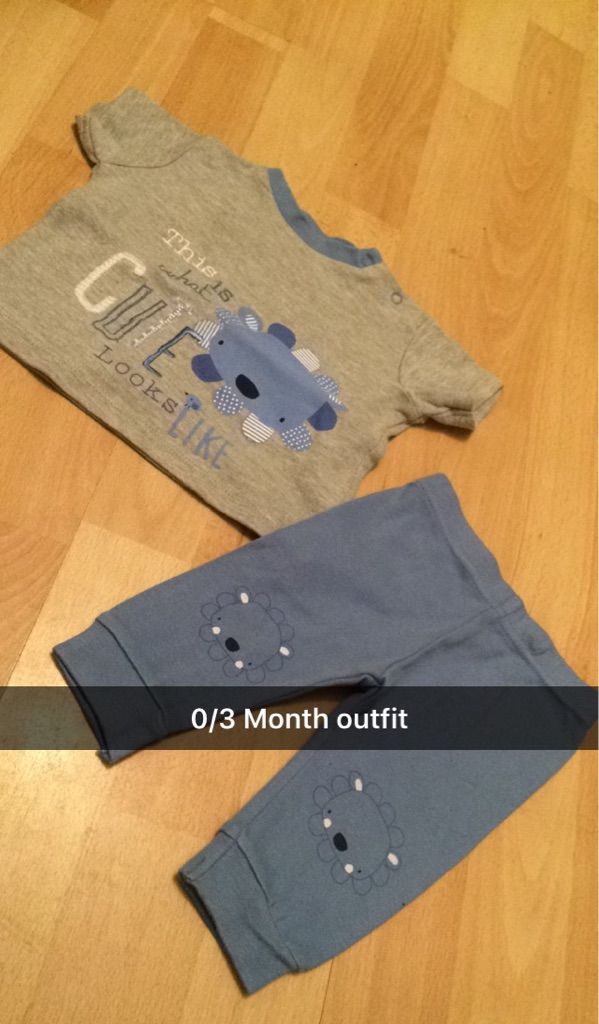 0/3 Month baby boys outfit