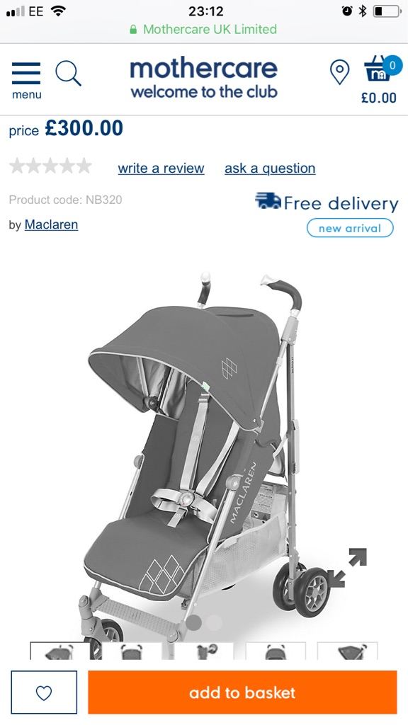 Maclaren Techno XT pushchair