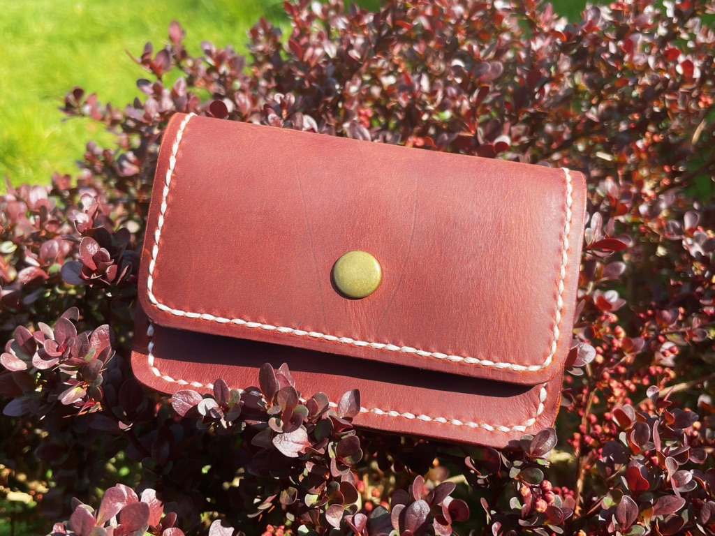 Handmade Leather coin purse cardholder