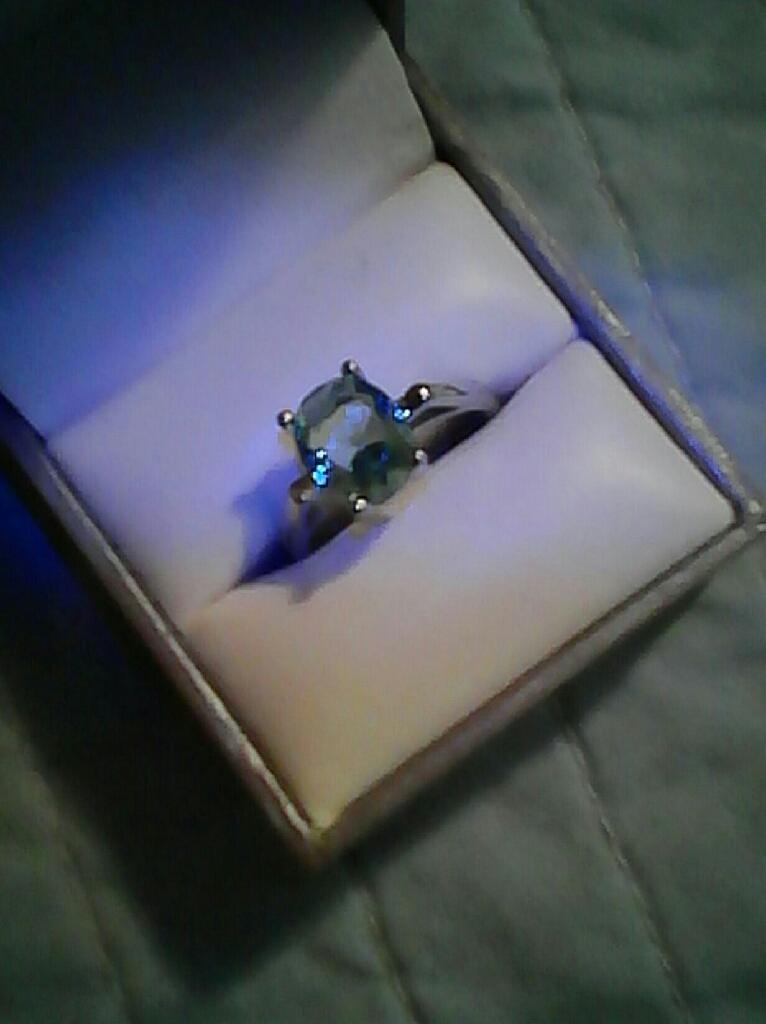 Authentic Blue Aquamarine Ring...$45. Firm