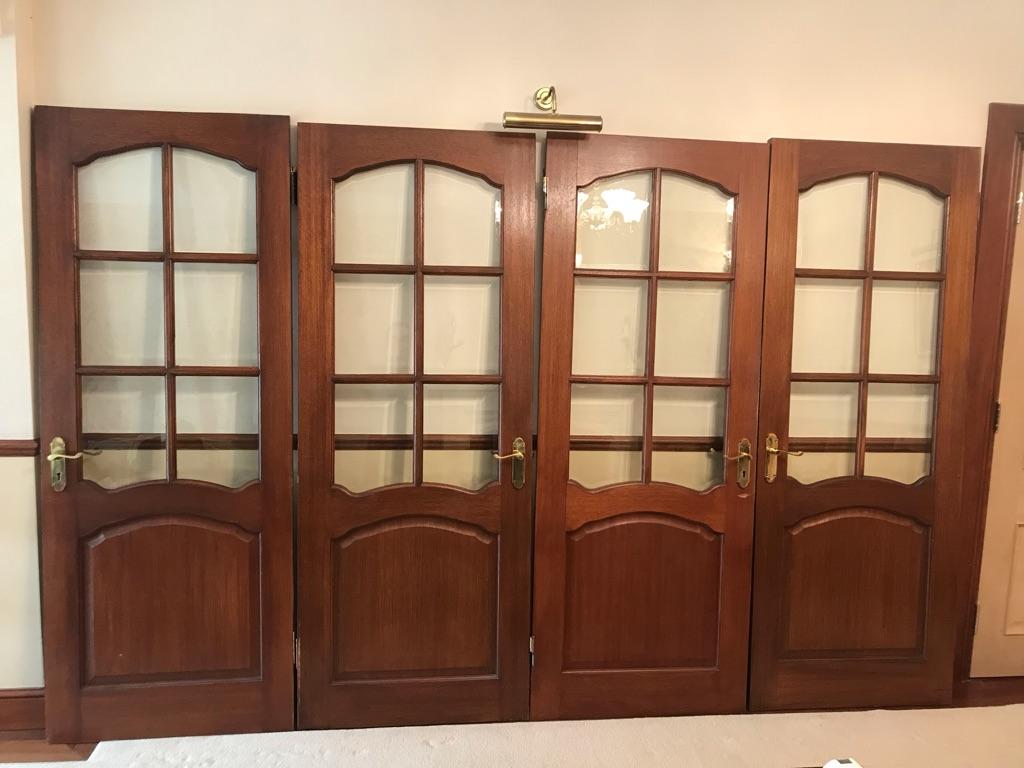 4 x Solid Mahogany Internal Doors