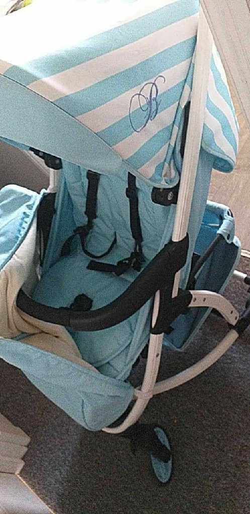 Billie faiers baby blue pram