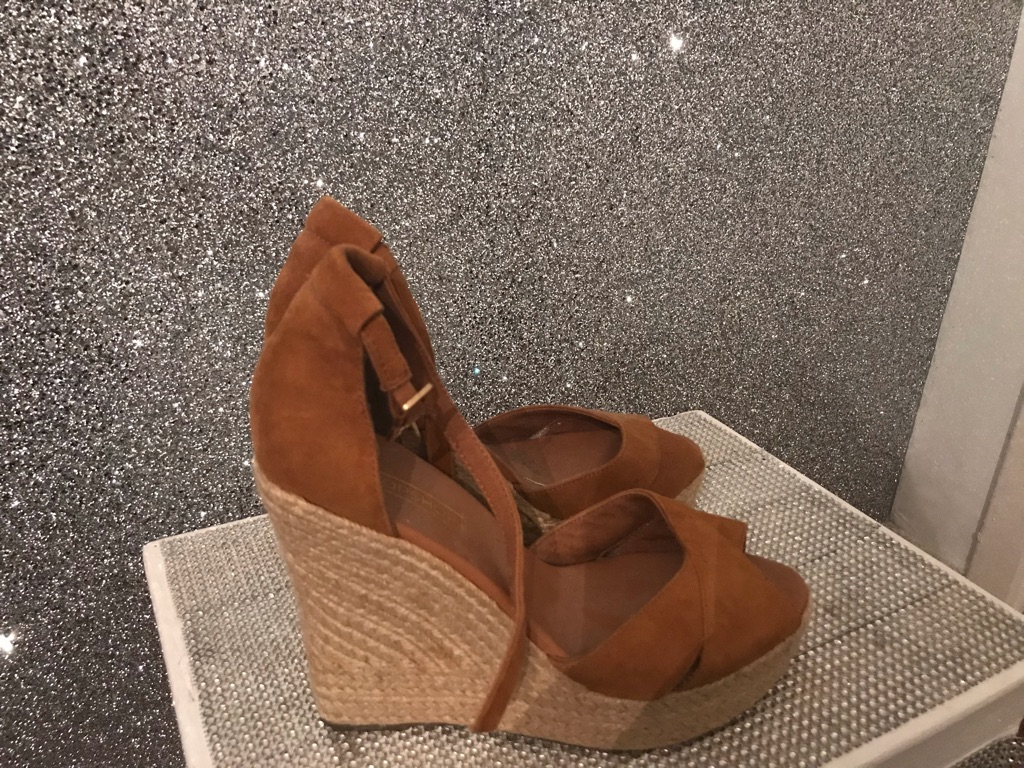 Top shop wedges suede