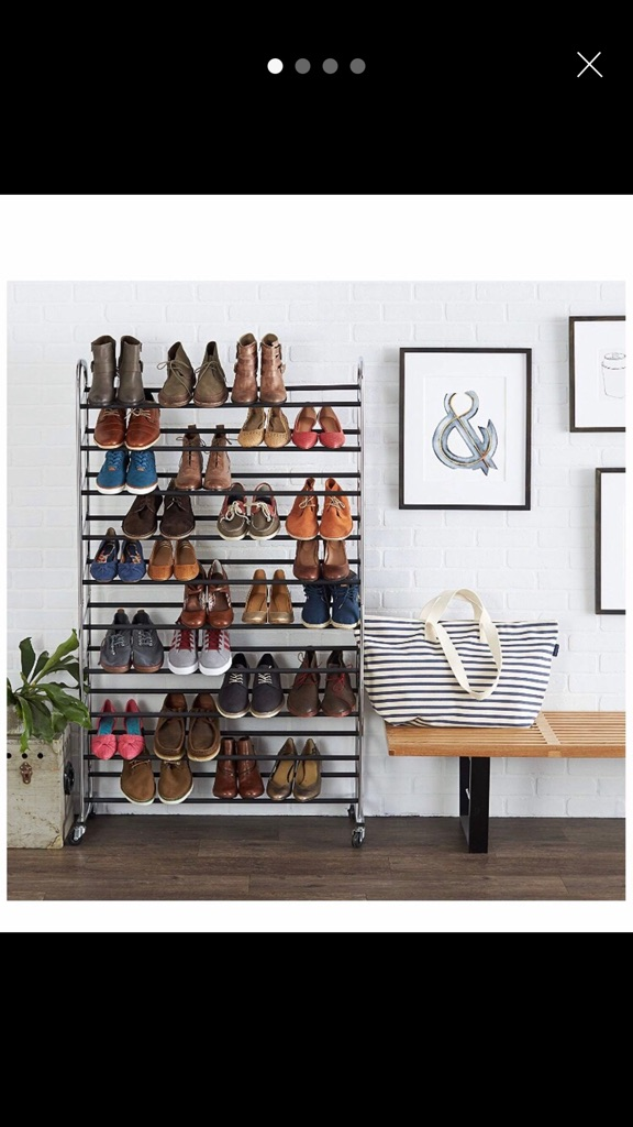 50 pair shoerack with wheels