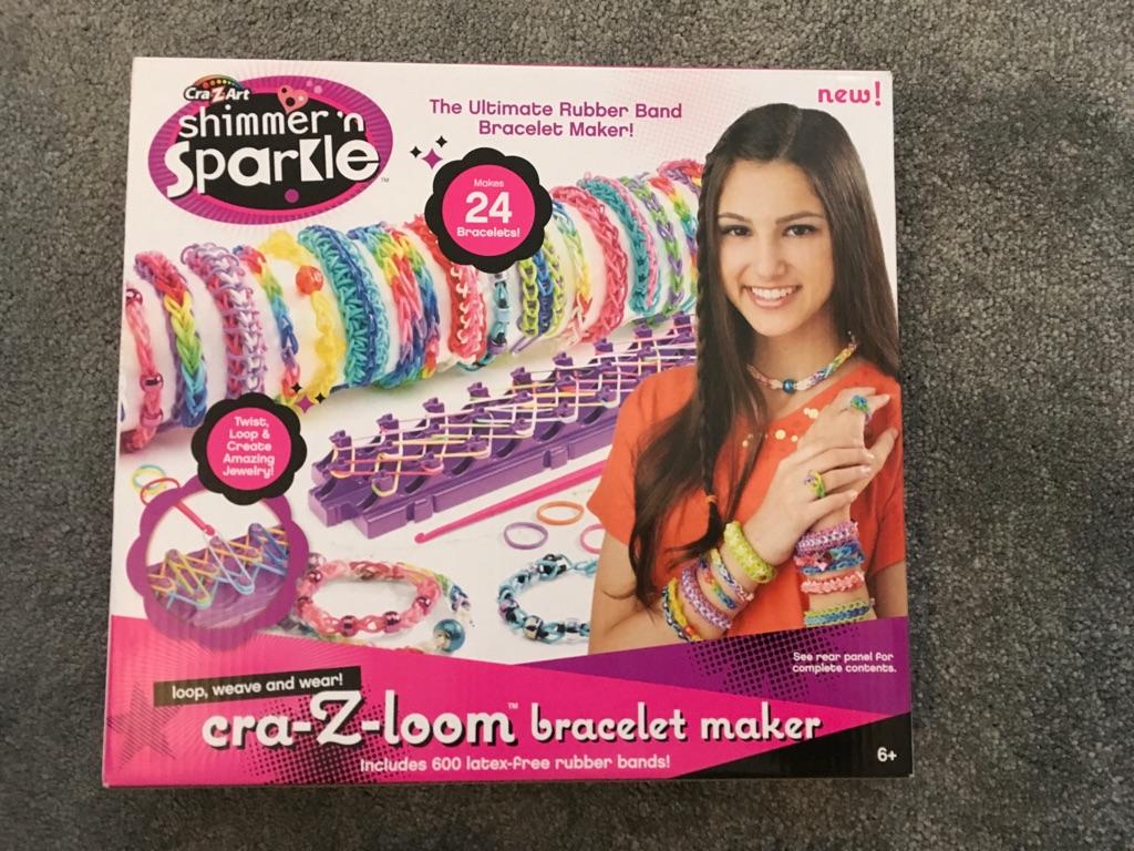 Shimmer And Sparkle Loom Band Bracelet Maker *NEW*