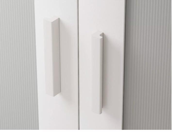 Double   white wardrobe
