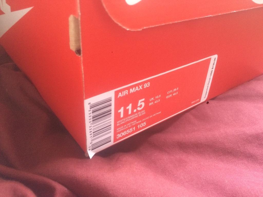Nike Air Max 93 Sz 11.5