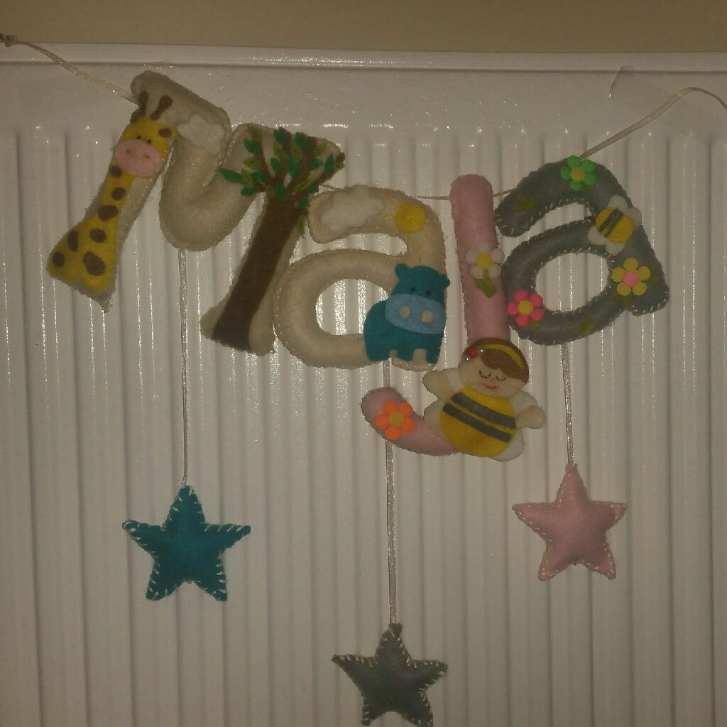 Felt garland banner made to order   whatts app 07864280367