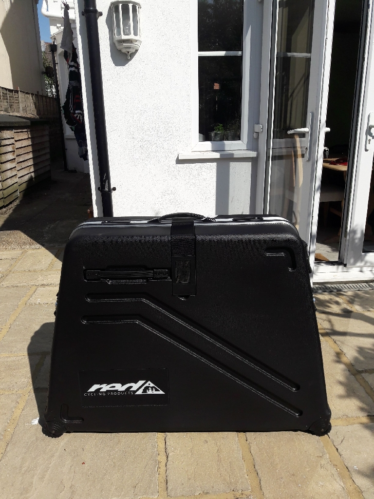 Hard shell bike box, B&W, new and unused, perfect condition, tags still on