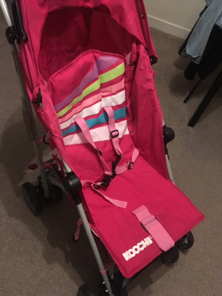 Pink lightweight stroller
