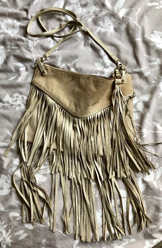 RIVER ISLAND Leather Fringed bag