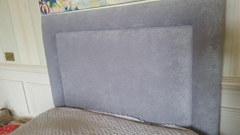 Single velvet headboard