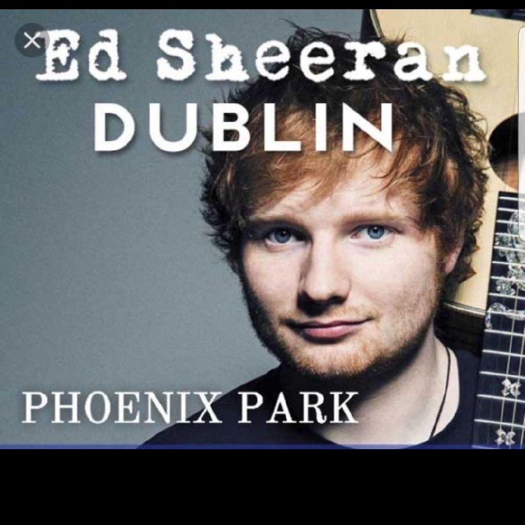 2 Ed Sheeran tickets 18th May Phoenix Park